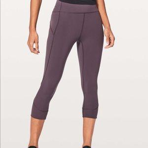 Lululemon In Movement Purple Crop Leggings Size 8